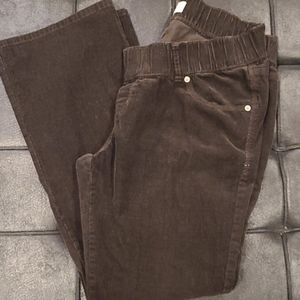 Old Navy Brown Corduroy Maternity Pants
